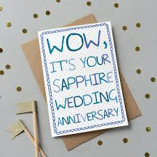 45 wedding anniversary special wedding anniversary card by catherine designs