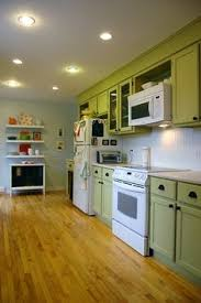 Olive Green Kitchen Cabinets Low Cost Cabinet Makeovers Olive Green Kitchen Green Kitchen