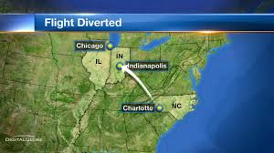 Map To Chicago by Chicago Bound Flight Lands In Indianapolis After Mechanical Issue