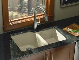 undermount kitchen sink with faucet holes kohler undermount kitchen sink kohler sinks the home depot