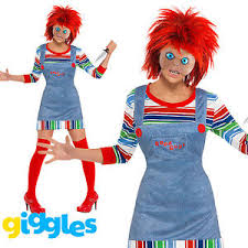 Chucky Costume Chucky Costume Womens Ladies Female Halloween Childs Play Fancy