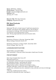 Rn Objective For Resume Graduate Nurse Resume Template Free Rn Certified Nursing Examples