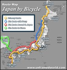 Chicago Bike Map by Travel Route Maps Japan By Bicycle Route Map Bike Tour Japan