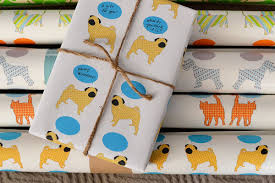 modern dog themed wrapping paper from riverdog prints dog milk