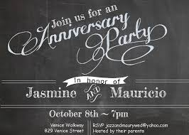 anniversary party invitations new selections fall 2017