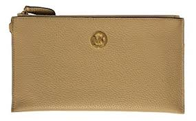 light brown mk purse amazon com michael kors fulton large leather top zip clutch and