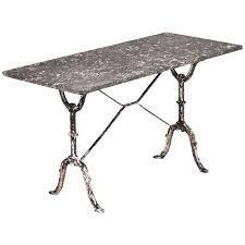 Cast Iron Bistro Table And Chairs French Antique Marble Top Cast Iron Bistro Table At 1stdibs