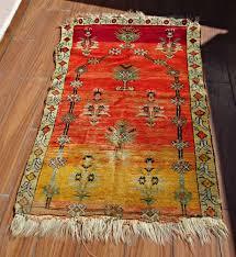 Boho Rugs Turkish Oriental Rug Kilim 31x51 Inches Red Rug Vintage Area Rugs