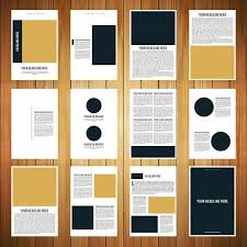 12 page brochure template 12 page booklet template vector free