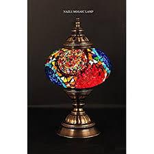 amazon com table lamp swan neck lamp shade arabian mosaic lamps
