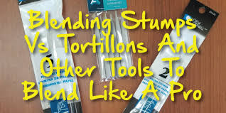 Makeup Artist Supplies Blending Stumps Vs Tortillons And Other Tools To Blend Like A Pro