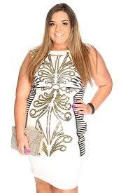 white gold metallic design sleeveless plus size club wear dress