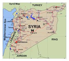 map of syria maps of syria detailed map of syria in tourist map of