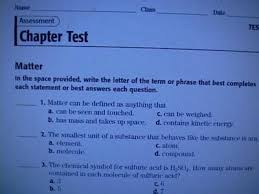 chapter test answers holt physical science matter 100 images
