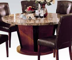 marble dining table round 60 round brown marble top dining table dining tables af 07048 2