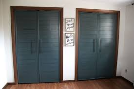 How To Build Bi Fold Closet Doors Bi Fold To Faux Shiplap Closet Doors Bright Green Door