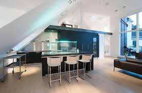 attic kitchen ideas scandinavian design stylish attic penthouse in stockholm