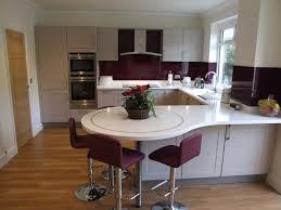 Breakfast Counters Small Kitchens Modern Painted Kitchen With Lovely Circular Breakfast Bar Must Do
