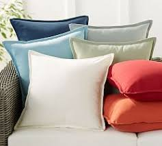 Outdoor Pillow Slipcovers Solid Outdoor Pillows Pottery Barn