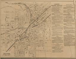 Paper Town Map Lockport Village New York 1860 Old Town Map Custom Print