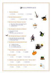 english teaching worksheets halloween quiz