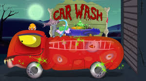 fire truck car wash scary halloween videos for children youtube