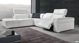 canapé cuir blanc design canapé avec relax cuir blanc design