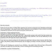 nhs complaints letter sample templates negligence claimline