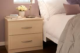 Fitted Bedroom Furniture Ideas Bedside Table With A Maple Finish From The Milan Bedroom Furniture