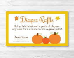 cute pumpkin diaper raffle tickets pumpkin baby shower