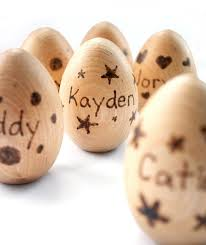 personalized easter egg baskets 49 best wooden easter egg painting playdate images on