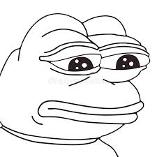 Frog Face Meme - vector frog meme face for any design isolated eps 10 stock vector