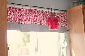 Stylish Kitchen Curtains by Make It Daring With Red Kitchen Curtain