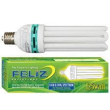 feliz 125 watt blue 6500k compact fluorescent grow lamp