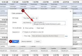 employee schedule template u0026 instructions