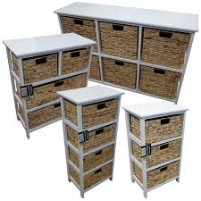storage unit with wicker baskets wooden vegetable rack with four drawers kashiori com wooden sofa