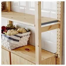 Ikea Garage Shelving by Ivar 2 Section Shelving Unit W Cabinet 68 1 2x11 3 4x70 1 2