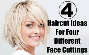 haircut ideas 4 different haircut ideas for four different face cuttings style