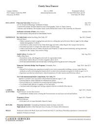 Sample Resume Objectives College Students by Resume Objective For College Student Template Examples