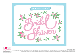 Bridal Shower Signs Free Bridal Shower Party Printables From Love Party Printables