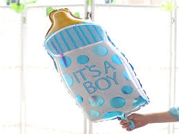giant baby boy it u0027s a boy themed baby shower balloon kit