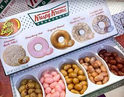 jelly belly and krispy kreme team up for a line of donut flavored