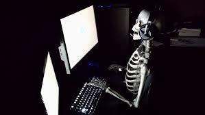 Skeleton Computer Meme - skeleton gamer template imgur
