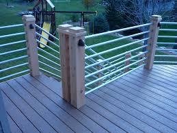 galvanized tubing deck rail deck pinterest decking railings