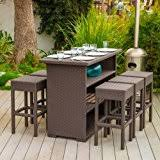 Outdoor Furniture Bar by Amazon Com Bar Height Patio Furniture Sets Patio Furniture
