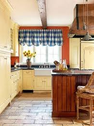 Blue And Yellow Kitchen Ideas Kitchen Ideas On A Budget Orange Accent Walls Blue Cabinets And