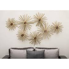 Industrial Flower Metal Wall Decor S The Home Depot