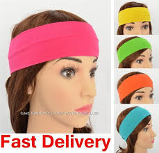 sports hair bands lycra solid color stretch sports headband hair bands sweatband