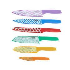 cuisinart kitchen knives cuisinart 12 stainless steel printed knife set 8446060 hsn