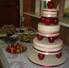 coolest apple themed wedding cake